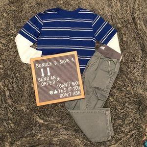 Striped Shirt & Cargo Pants